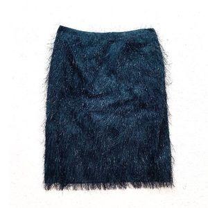 Carlisle fuzzy sparkle embellished black skirt g